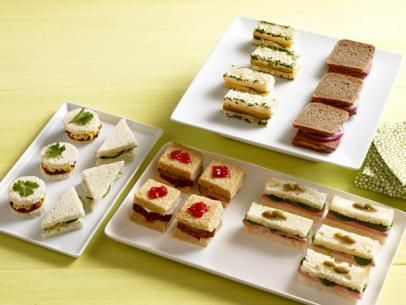Ham and brie tea sandwiches