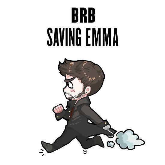 BRB - saving Emma by PompeiiAblaze on Redbubble <3