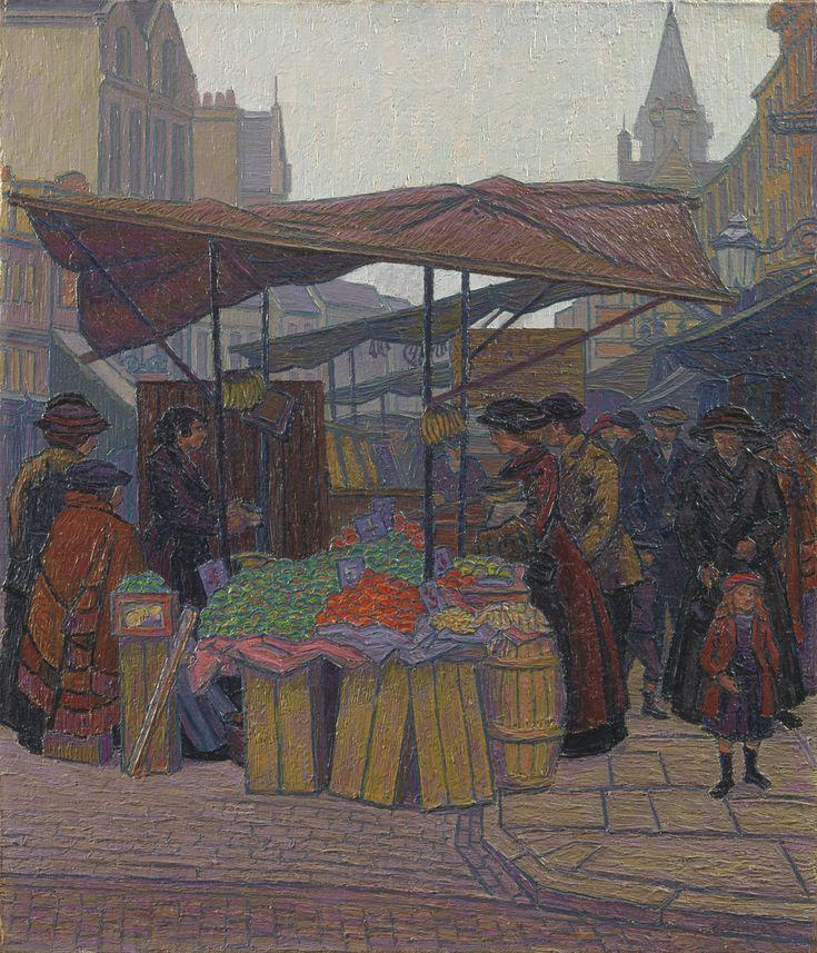 Charles Ginner - The Fruit Stall, King's Cross, 1914