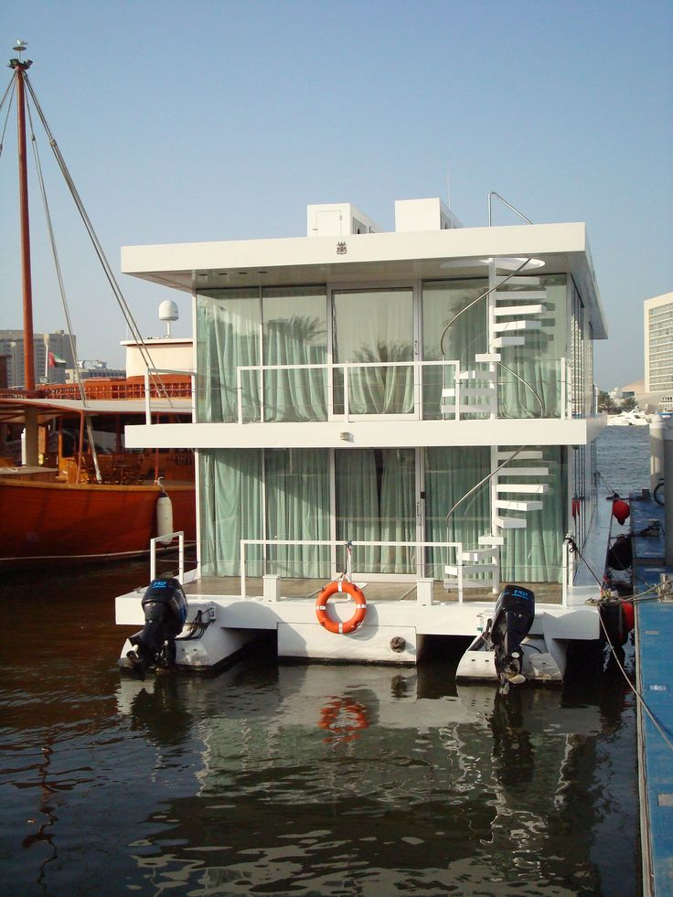 716 best images about floating home offshore maison houseboat on pinterest houseboat - The floating homes of dubai luxury redefined ...