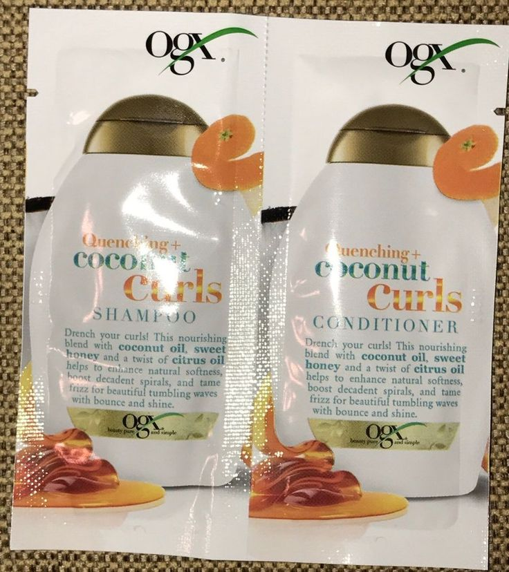 OGX Quenching Coconut Curls Shampoo + Conditioner 0.25oz Sample Sulfate Free 22796913463 | eBay