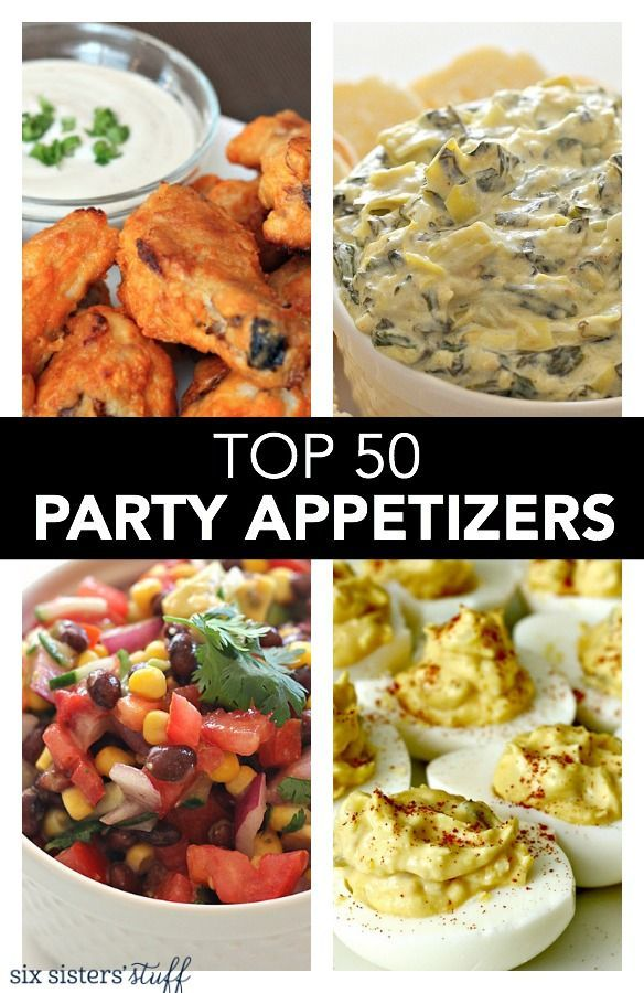 Top 50 Party Appetizers on SixSistersStuff.com | With so many parties during the holidays, we wanted to put together our favorite appetizer recipes for you to help make your party food planning so much easier. :) Because let's be honest . . . a good party starts with good food!!