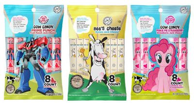 Cow Candy introduces new fruit-flavored Monterey Jack cheese sticks.