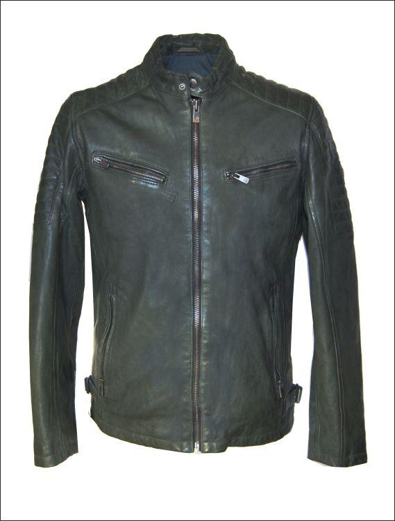Ανδρικό δερμάτινο μπουφάν  Μοντέλο: Cha Green Δέρμα: nappa vintage Τιμή: 380€