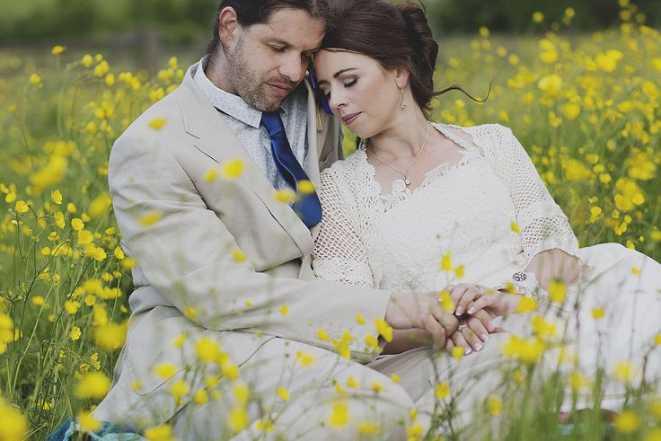 Creative wedding photography // Contemporary wedding photography // Peak District wedding // DIY wedding // Buttercup field // By Inta Photography // http://intaphotography.com