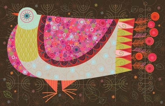 Nicholson's new Happy Pigeon poster - via Kickcan & Conkers
