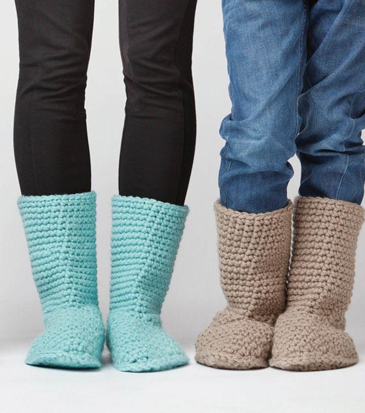 Slipper Boots: FREE crochet slippers pattern