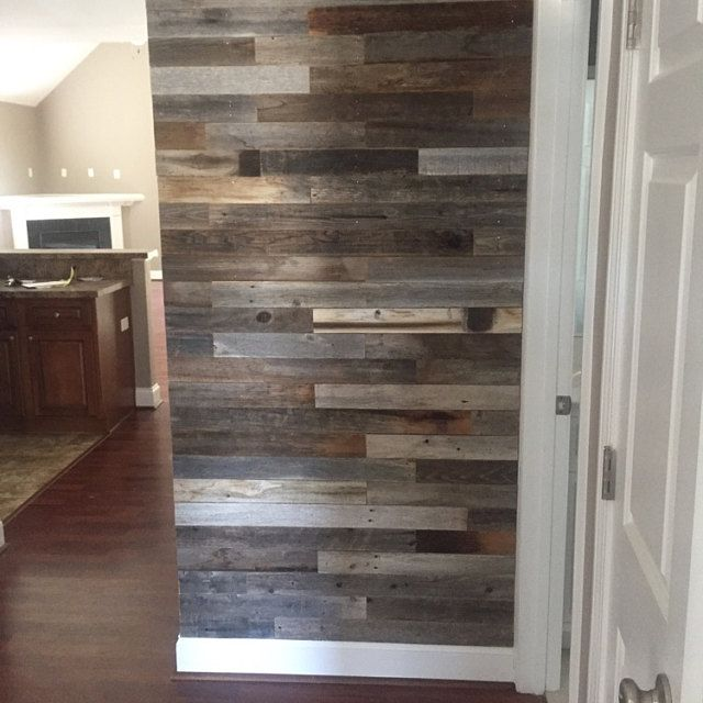 Reclaimed Wood Wall Paneling Diy 3 In Planks Largest Etsy In 2020 Reclaimed Wood Wall Wood Panel Walls Weathered Wood Wall