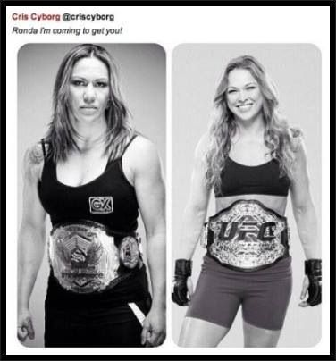 It's going to have take a beast like Chris Cyborg to knock Rousey off her high horse.