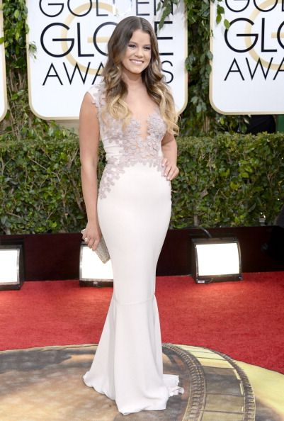 Fabulously Spotted: Sosie Bacon Wearing Rhea Costa - 2014 Golden Globe Awards - http://www.becauseiamfabulous.com/2014/01/sosie-bacon-wearing-rhea-costa-2014-golden-globe-awards/
