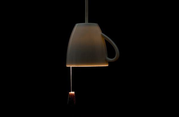 CIEKAWE OŚWIETLENIE, LAMPA, kubek, CIEKAWY DESIGN, CIEKAWE WZORNICTWO