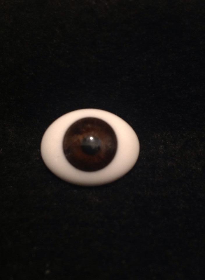 20 MM CC06 Dark Grey Glass Pabol  Doll Eyes Fast shipping
