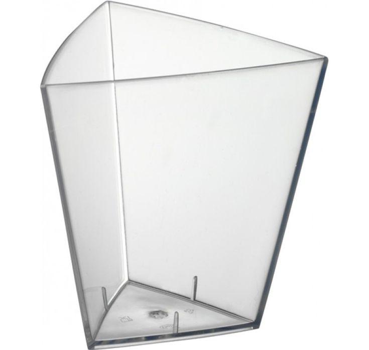 Amuse-Bouche Triunghi Mare  Vas transparent triunghi, pentru candy bar,versiunea mare