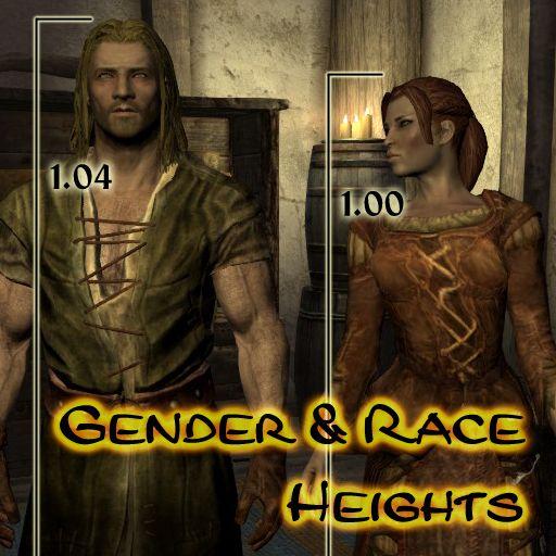 OKKKKKKKKKKK Gender and Race Heights at Skyrim Nexus - mods and