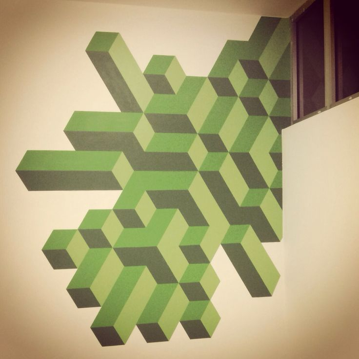 Green graphic 2014 -spray on wall