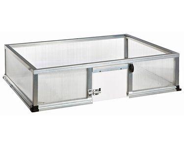KGT Schildkröten-Unterbau für Frühbeet Premium 25 cm x 100 cm Alu blank