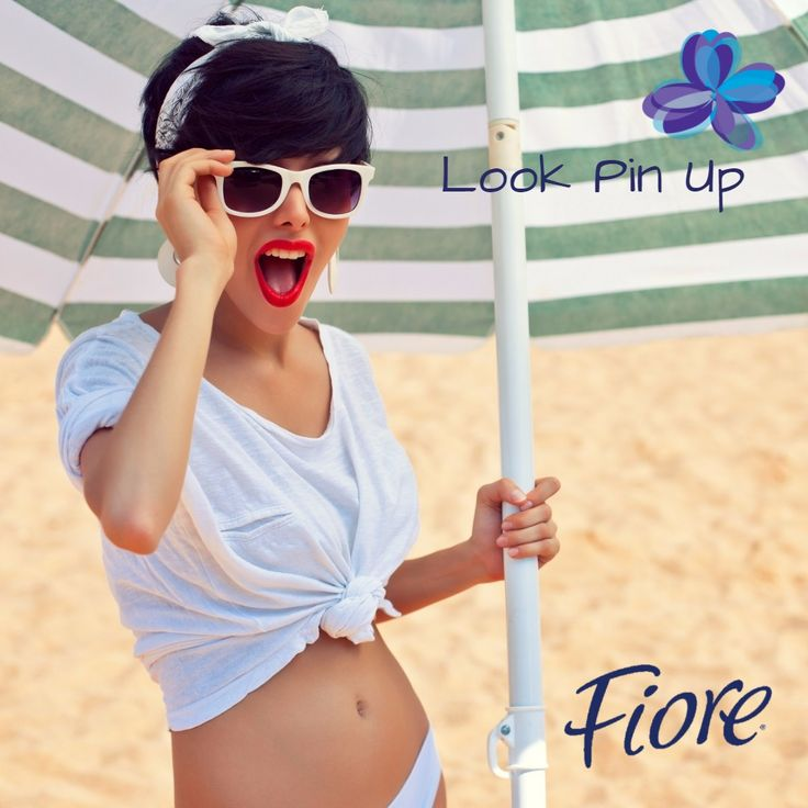 Si quieres tener un look más coqueto para la playa, la opción es pin up. Labios rojos, chongos altos y navy look en la ropa