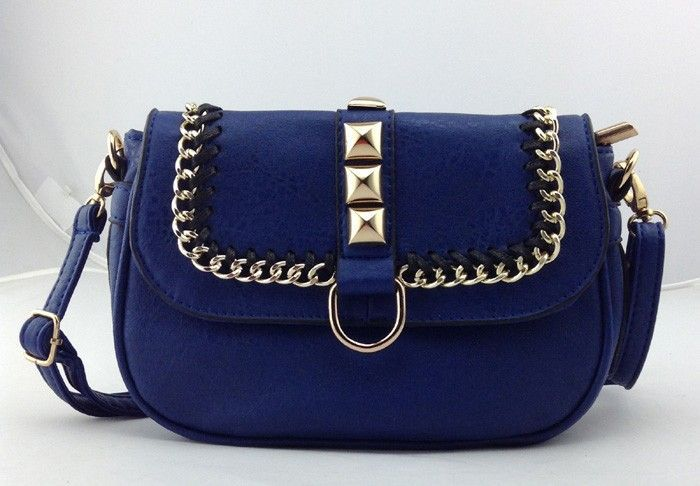 BELLA accessories chain and stud cross body bag