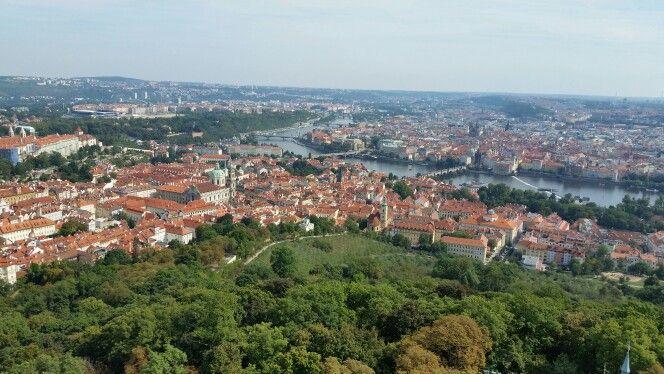 Prague Czech Republic widok z wierzy na Pragę
