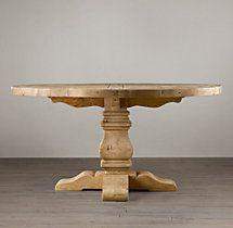 Pedestal Salvaged Wood Round Tables