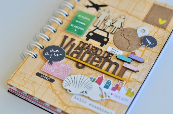 O Diário de Viagem mais lindo - ScrapBi Mais