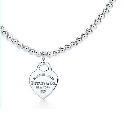 Tiffany And Co Necklace Return To New York Heart Silver 064