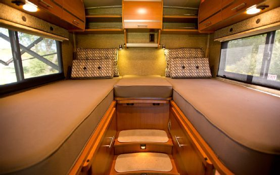Upfitted Mercedes-Benz Sprinter 2500 First Drive Photo Gallery - upstairs double beds, would be great for the boys