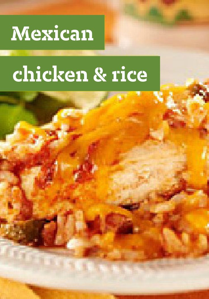 Mexican Chicken & Rice -- Salsa adds Mexican flair to this quick and easy main dish, made with chicken breasts, instant rice and Cheddar cheese. Bonus: It's ready for the dinner table in just 30 minutes time.