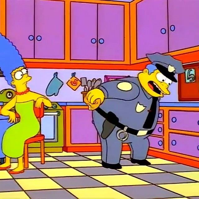 17 best images about simpsons on pinterest aunt edna krabappel and the simpsons - Police simpsons ...