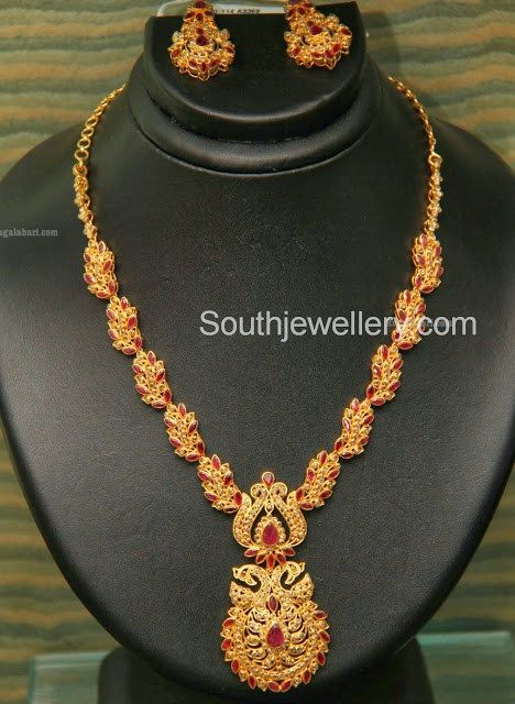 Uncut Diamond Necklace latest jewelry designs - Page 37 of 40 - Jewellery Designs