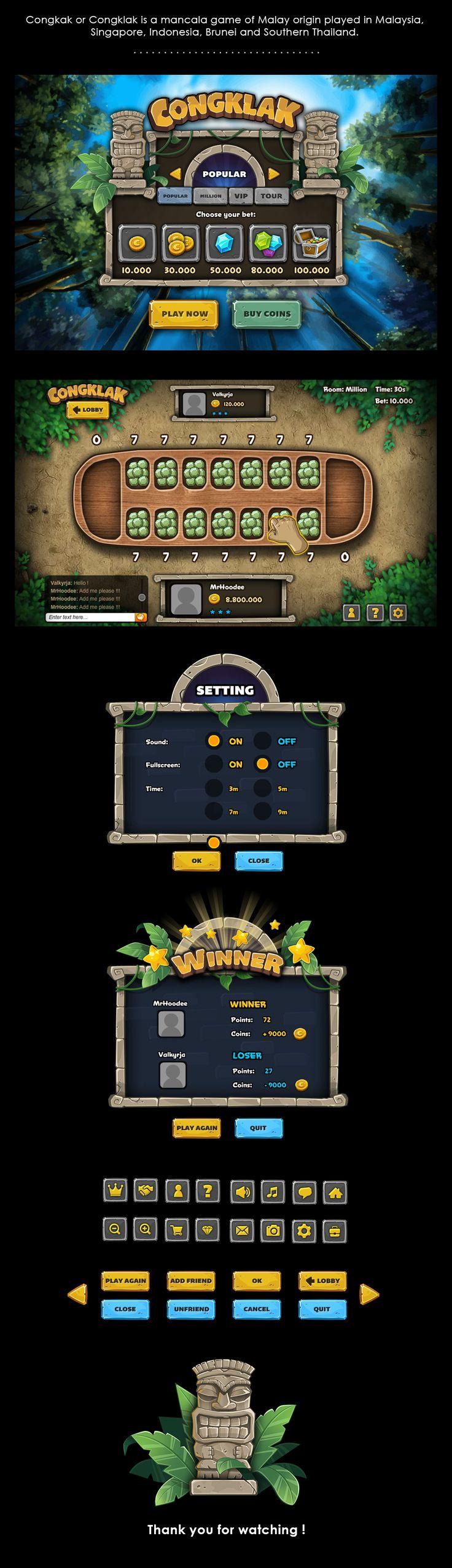 Game Congklak on Behance