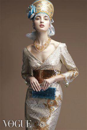 #Luzhina, #Jkokoshnik #dress #vogue #hifashion #русскийдизайнер #kokoshnik #платьеврусскомстиле #русскийстиль #высокаямода #fashion #russianstyle  #неделямоды #jenkasfashion
