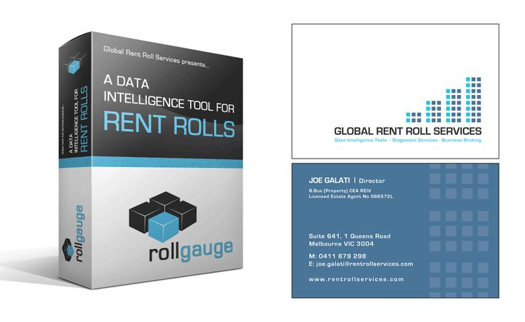 Global Rent Roll Services Software Package Design and Business Cards Creative Clarity