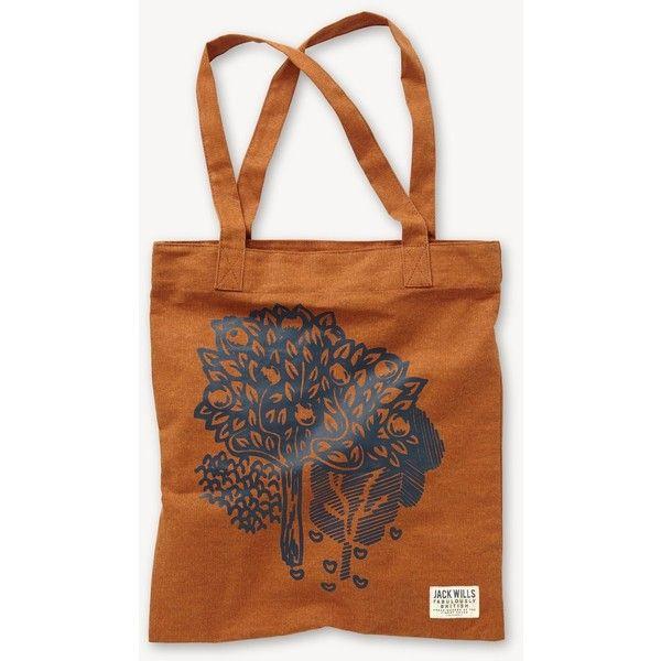 Jack Wills Brightwell Bookbag featuring polyvore, fashion, bags, handbags, jack wills, brown handbags, jack wills bag, star purse and brown purse