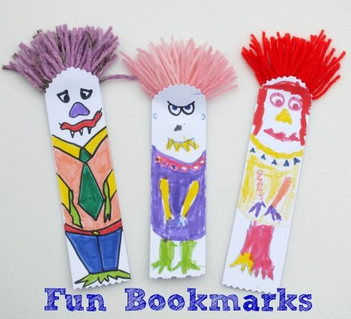 Fun bookmarks kids crafts pinterest activities for Bookmark craft for kids