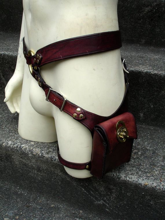 Steampunk Holster Belt Bag by MisfitLeather on Etsy