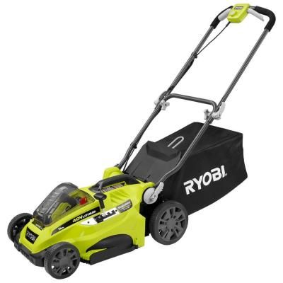 Ryobi 40-Volt 16 in. Lithium-Ion Cordless Walk-Behind Lawn Mower with 4.0 Ah Battery-RY40140 - The Home Depot