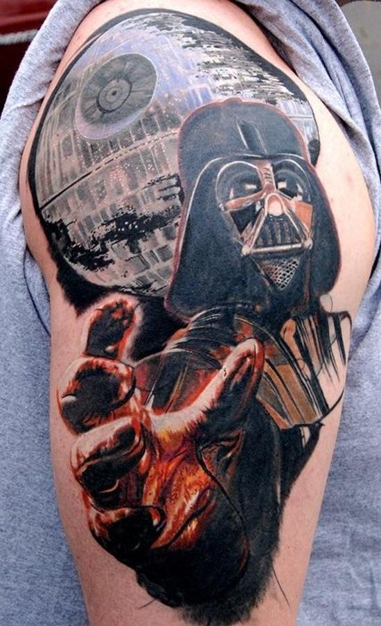 Vader & Death Star Tattoo