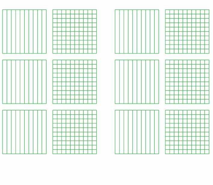 Decimal Grids  Tenths And Hundredths