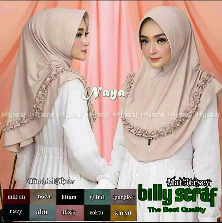 Bismillah Hijab Jilbab Khimar Instan Naya Berbahan Dari Jersey Super Mewah Cantik Elegan 40rb Hijab Hijab Fashion Hijab Dress