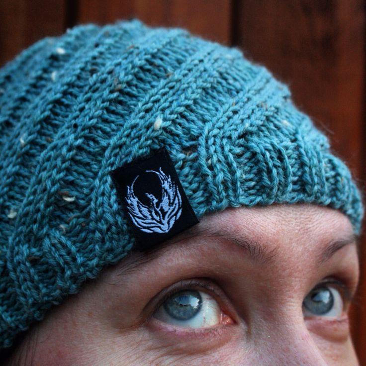 Spiral Beanie in Thirst Heather from Knit Picks.