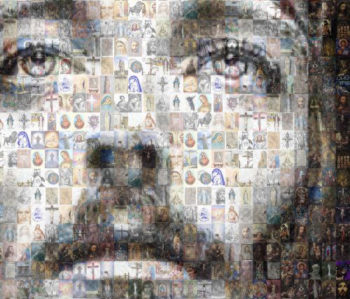 Mosaic Collage of Jesus Photos By Michael Verlangieri ...