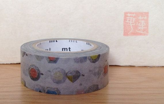 mt washi masking tape  cut  jewels