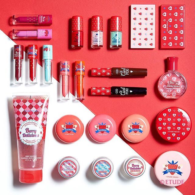 Etude House  2016 S/S Collection Spring Starwberry Melting Sweet Makeup Collection  Berry Delicious