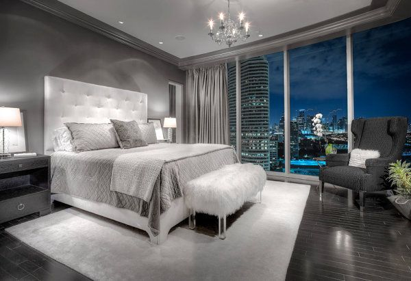 a little sterile for a home but fantastic for a luxury hotel or getaway, inner city retreat - that view up so high ... I'd float away in the sky, dim the lights and let the city and stars sparkle as I lazed on satin sheets ...