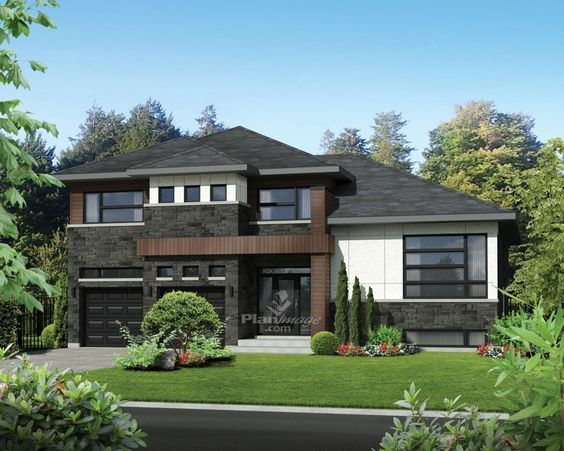 17 best ideas about split level house plans on pinterest for How big is a two car garage square feet