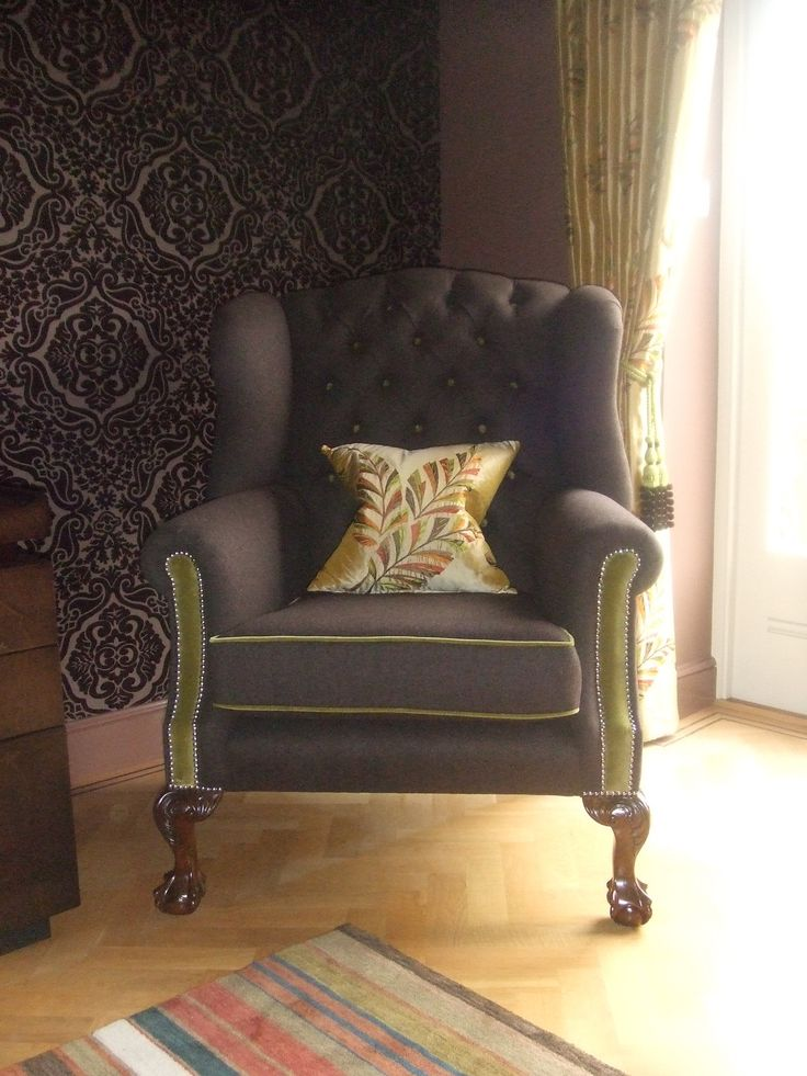Classic wingchair upholstered by Zinc