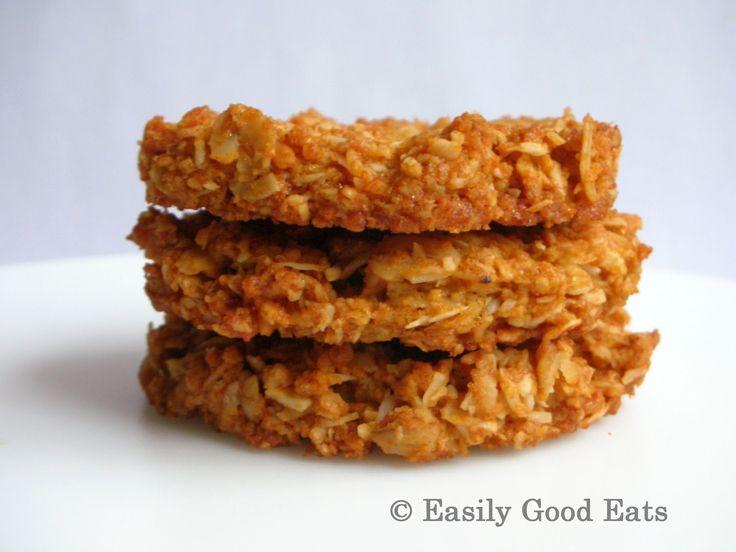 Easily Good Eats: Gluten Free Coconut Oat (ANZAC) Cookies Recipe