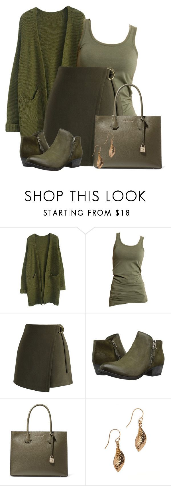 """Army Green"" by colierollers ❤ liked on Polyvore featuring Vila Milano, Chicwish, Miz Mooz, MICHAEL Michael Kors and Alicia Marilyn Designs"