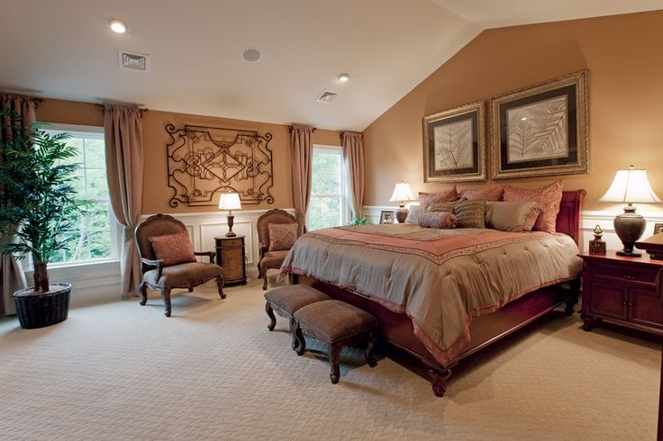 Traditional Master Bedroom With Wainscotting Chair Rail Carpet Bedrooms Pinterest